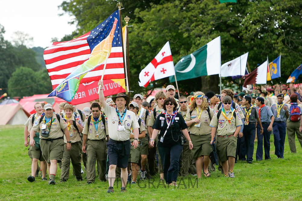 World Scout Jamboree, 21st annual event,  in Essex, England