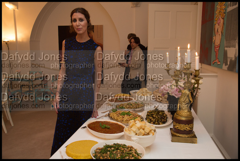 Frieze dinner  hosted at by Valeria Napoleone for  Marvin Gaye Chetwynd, Anne Collier and Studio Voltaire 20th anniversary autumn programme. Kensington. London. 14 October 2014.