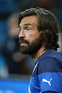 Andrea Pirlo of Italy looks on during the Italy open training session at Arena da Amazonia, Manaus, Brazil<br /> Picture by Andrew Tobin/Focus Images Ltd +44 7710 761829<br /> 13/06/2014