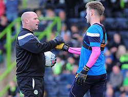 Forest Green Rovers goal keeping coach Steve Hale praises Bradley Collins of Forest Green Rovers - Mandatory by-line: Nizaam Jones/JMP - 28/10/2017 - FOOTBALL - New Lawn Stadium - Nailsworth, England - Forest Green Rovers v Morecambe - Sky Bet League Two