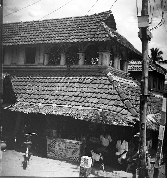 India.<br /> Tiled roof.