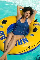 Woman on Float Tube