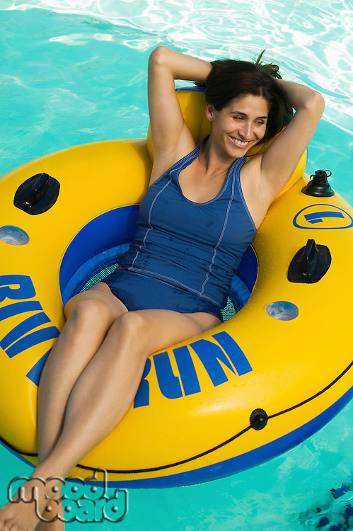 Woman on Float Tube