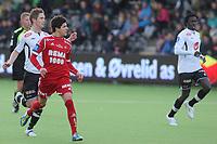Fotball , 7. April 2013, Tippeligaen Eliteserien , Sogndal - Rosenborg<br /> Foto: Christian Blom , Digitalsport Rune Bolseth, Sidimane Sagna Sogndal. Tarik Elyounoussi RBK