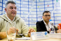 Vladimir Kevo and Roman Dobnikar during press conference when Slovenian athletes and their coaches sign contracts with Athletic federation of Slovenia for year 2016, on February 25, 2016 in AZS, Ljubljana, Slovenia. Photo by Vid Ponikvar / Sportida
