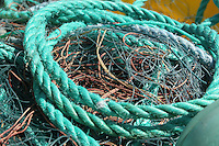 rope and nets from fishing boat on the Aran Islands