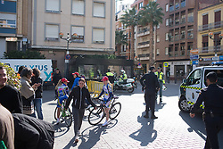 Michela Fanini Cycling Team riders roll to the sign-on before Stage 3 of the Setmana Ciclista Valenciana - a 137 km road race, between Sagunt and Valencia on February 24, 2018, in Valencia, Spain. (Photo by Balint Hamvas/Velofocus.com)