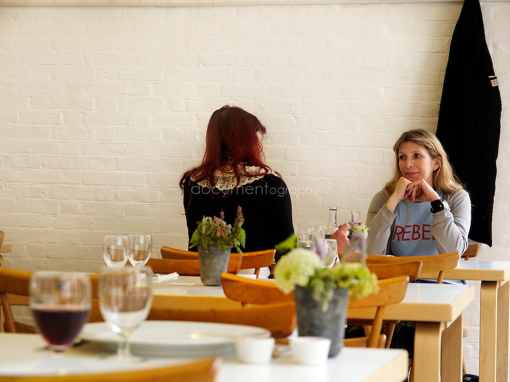 Customers at La Rochelle Canteen, london