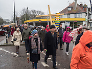 Christians remembering Good Friday and the Cross. Churches together in Bexhill, East Sussex. 30 March 2018