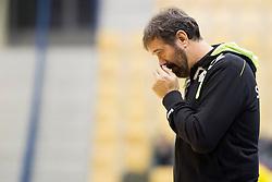 Veselin Vujovic, head coach of Slovenia during friendly handball match between National Teams of Slovenia and F.Y.R. of Macedonia before EHF EURO 2016 in Poland on January 5, 2016 in Arena Zlatorog, Celje, Slovenia. Photo by Urban Urbanc / Sportida