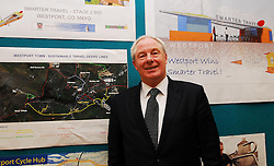 Minister Ring pointing the way forward for Westport after the announcement of the town winning a €5million euro investment in Smarter Travel Infrastructure and Initiatives ...Pic Conor McKeown