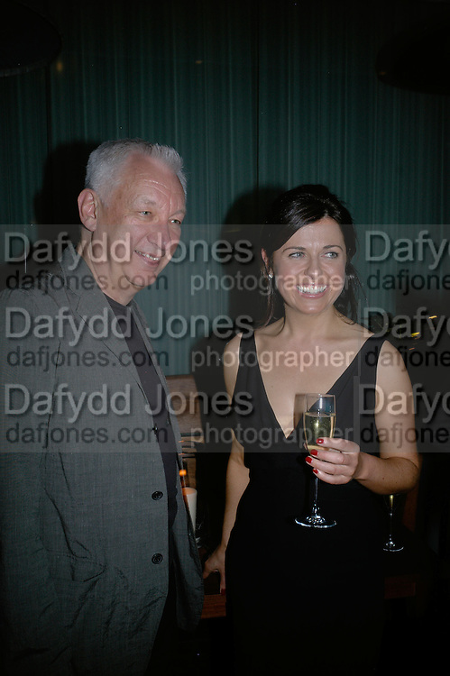 MICHAEL CRAIG-MARTIN AND ALISON JACQUES, private view  of new exhibition by Tim Stoner , Alison Jacques Gallery in new premises in Berners St., London, W1 ,Afterwards across the rd. at the Sanderson Hotel. 3 May 2007. DO NOT ARCHIVE-© Copyright Photograph by Dafydd Jones. 248 Clapham Rd. London SW9 0PZ. Tel 0207 820 0771. www.dafjones.com.
