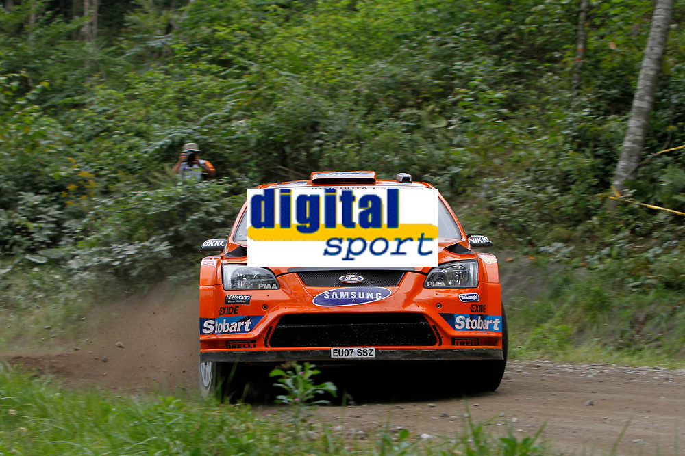 MOTORSPORT - WORLD RALLY CHAMPIONSHIP 2010 - RALLY JAPAN / RALLYE DU JAPON - SAPPORO (JAP) - 09 TO 12/09/2010 - PHOTO : FRANCOIS BAUDIN / DPPI - <br /> Henning SOLBERG (NOR) / Ilka MINOR (AUT) - FORD FOCUS RS WRC 08 - STOBART M-SPORT FORD RALLY TEAM - ACTION