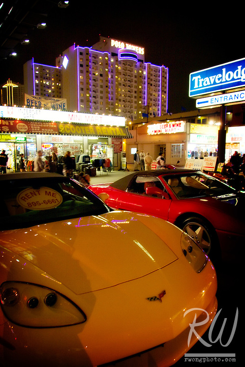 Sports Cars For Rent on the Strip, Las Vegas, Nevada