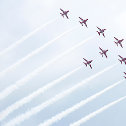 The Red Arrows fly in formation at the Goodwood Festival of Speed, June the 27th. © Sam Todd | SportPix.org.uk