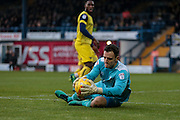 Simon Eastwood (Oxford United) makes a save during the EFL Sky Bet League 1 match between Bury and Oxford United at the JD Stadium, Bury, England on 17 December 2016. Photo by Mark P Doherty.