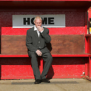 PAUL GASCOIGNE AT THE PRESS CONFERENCE AT KETTERING TOWN FOOTBALL CLUB  ON THURSDAY MORNING WHERE HE ANNOUNCED HE IS PART OF A CONSORTIUM TO TAKE OVER THE CLUB AND BECOME THE NEW MANAGER.