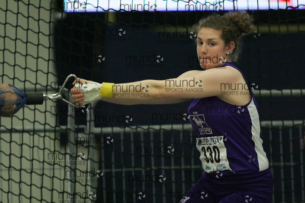 (Windsor, Ontario---11 March 2010) Cara Marcantonio of University of Western Ontario Mustangs competes in the  competes in the  at the 2010 Canadian Interuniversity Sport Track and Field Championships at the St. Denis Center. Photograph copyright Sean Burges/Mundo Sport Images. www.mundosportimages.com