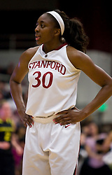February 18, 2010; Stanford, CA, USA; Stanford Cardinal forward Nnemkadi Ogwumike (30) during the second half against the Oregon Ducks at Maples Pavilion. Stanford defeated Oregon 104-60.