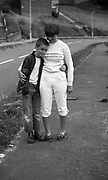 A Girl and Boy on the Road, High Wycombe, UK, 1980s.