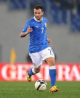 Fussball International, Nationalmannschaft   EURO 2012 Play Off, Qualifikation, Italien - Uruguay      15.11.2011 Simone Pepe (Italien)