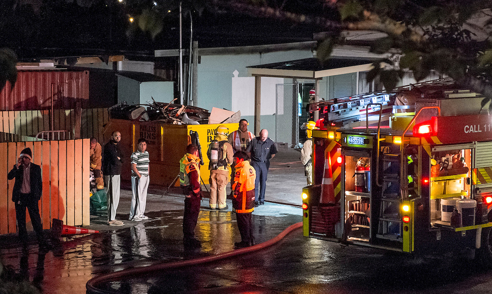 Fire Service attended a suspicious fire at the Islamic Centre In Avondale, Auckland, New Zealand, Sunday, October 26, 2014. Credit:SNPA / Bradley Ambrose