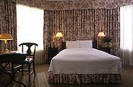 Interior of Hotel Savoy guest room. San Francisco.
