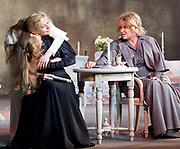 Three Sisters <br /> by Anton Chekhov<br /> Sovremennik Theatre <br /> at Piccadilly Theatre, London, Great Britain <br /> Press photocall / rehearsal <br /> 11th May 2017 <br /> <br /> Olga Drozdova as Olga <br /> <br /> Alyona Babenko as Masha <br /> <br /> Victoria Romanenko as Irina <br /> <br /> <br /> <br /> <br /> Photograph by Elliott Franks <br /> Image licensed to Elliott Franks Photography Services