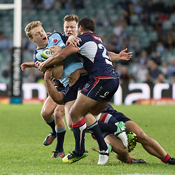 Bryce Hegarty of the Waratahs during the super rugby match between Waratahs and the Rebels Allianz Stadium 21 May 2017(Photo by Mario Facchini -Steve Haag Sports)
