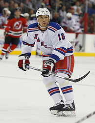 November 14, 2007; Newark, NJ, USA;  New York Rangers left wing Sean Avery (16) skates during the third period of their game against the New Jersey Devils at the Prudential Center in Newark, NJ.