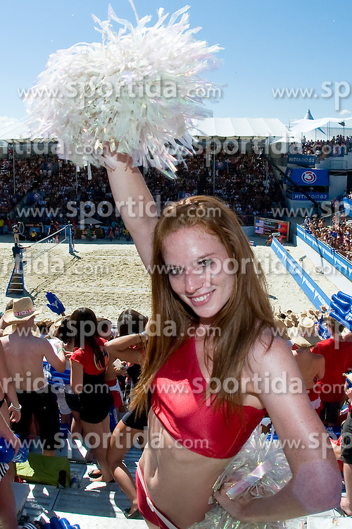 Eskimo girl Katrin Ambrosi and the view on the court at A1 Beach Volleyball Grand Slam tournament of Swatch FIVB World Tour 2010, final, on August 1, 2010 in Klagenfurt, Austria. (Photo by Matic Klansek Velej / Sportida)