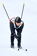 Schladming, Austria - 2017 March 20: Roman Soltys from SO Ukraine competes in Cross Country Race while Special Olympics World Winter Games Austria 2017 in Ramsau am Dachstein on March 20, 2017 in Schladming, Austria.<br /> <br /> Mandatory credit:<br /> Photo by &copy; Adam Nurkiewicz / Mediasport<br /> <br /> Adam Nurkiewicz declares that he has no rights to the image of people at the photographs of his authorship.<br /> <br /> Picture also available in RAW (NEF) or TIFF format on special request.<br /> <br /> Any editorial, commercial or promotional use requires written permission from the author of image.<br /> <br /> Image can be used in the press when the method of use and the signature does not hurt people on the picture.