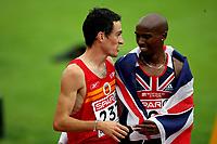 Friidrett , 13. juli 2006 , Gøteborg , EM ,<br /> Europamesterskapet ,<br /> Athletics , European  Championship <br />  5000 m<br />  the winner : Jesus Espana , ESP and Mohammed Farah , GBR number 2 5000 m