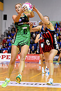 Fever player Shae Brown during their ANZ Championship Netball game between the Mainland Tactix v West Coast Fever. Marlborough Lines Stadium 2000, Blenheim, New Zealand. Sunday 12 April 2015. Copyright Photo: Chris Symes / www.photosport.co.nz