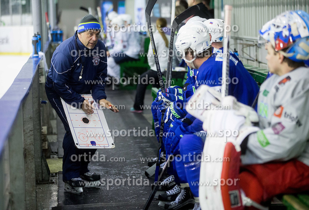 Matjaz Kopitar, head coach during practice session of Slovenian National Ice Hockey Team prior to the IIHF World Championship in Ostrava (CZE), on April 21, 2015 in Hala Tivoli, Ljubljana, Slovenia. Photo by Vid Ponikvar / Sportida