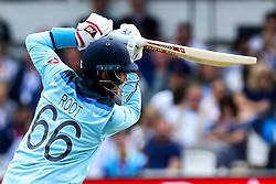 Joe Root of England batting - Mandatory by-line: Robbie Stephenson/JMP - 14/07/2019 - CRICKET - Lords - London, England - England v New Zealand - ICC Cricket World Cup 2019 - Final