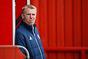 Brentford Manager / Head Coach Dean Smith during the EFL Sky Bet Championship match between Brentford and Reading at Griffin Park, London, England on 16 September 2017. Photo by Andy Walter.