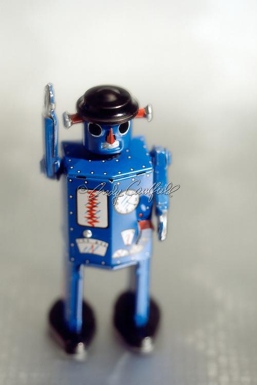 Robot antique tin toy still life