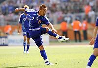 Photo: Chris Ratcliffe.<br /> Japan v Croatia. Group F, FIFA World Cup 2006. 18/06/2006.<br /> Hidetoshi Nakata of Japan has a shot at goal.