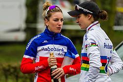 Pauline Ferrand Prevot (FRA) & Marianne Vos (NED), Women, Cyclo-cross World Cup Hoogerheide, The Netherlands, 25 January 2015, Photo by Thomas van Bracht / PelotonPhotos.com