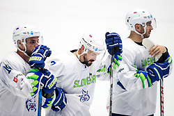 Disappointment of Matic Podlipnik of Slovenia, Klemen Pretnar of Slovenia and Bostjan Golicic of Slovenia during ice hockey match between Belarus and Slovenia at IIHF World Championship DIV. I Group A Kazakhstan 2019, on May 2, 2019 in Barys Arena, Nur-Sultan, Kazakhstan. Photo by Matic Klansek Velej / Sportida