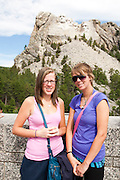The Oregon Marching Band visits Mount Rushmore in KeyStone, South Dakota on July 17, 2011.
