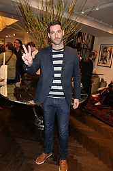 TOM ELLIS at a party to celebrate the launch of the first European John Varvatos Store, 12-13 Conduit Street, London held on 3rd September 2014.