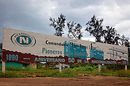 Billboard in Nicaro, Holguin, Cuba.