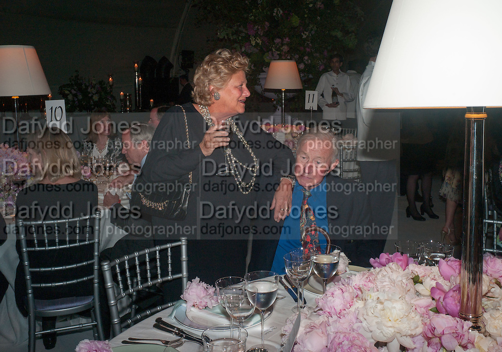DAME VIVIEN DUFFIELD; SIR TERENCE CONRAN, CARTIER CHELSEA FLOWER SHOW DINNER Dinner hosted by Cartier in celebration of the Chelsea Flower Show was held at Battersea Power Station. 22 May 2012