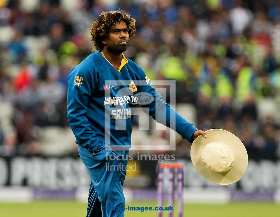 Lasith Malinga of Sri Lanka during the Royal London One Day Series match at Edgbaston, Birmingham<br /> Picture by Tom Smith/Focus Images Ltd 07545141164<br /> 03/06/2014