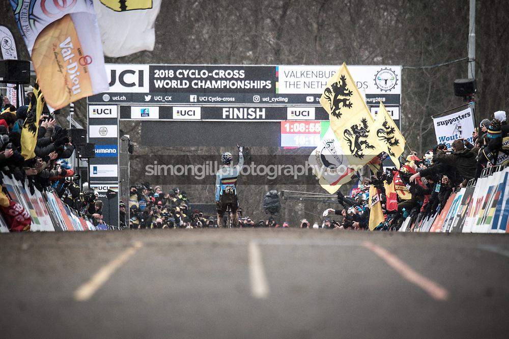 UCI Cyclo-cross World Championships in Valkenburg 2018. Wout Van Aert. Photo by Simon Gill.