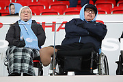 Man City fans during the Premier League match between Stoke City and Manchester City at the Bet365 Stadium, Stoke-on-Trent, England on 12 March 2018. Picture by Graham Holt.