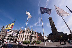 """The main square or """"Grote Markt"""" in Bruges, Belgium, Tuesday, Sept. 9, 2008. (Photo © Jock Fistick)"""