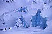 Glacier skiing, Alaska